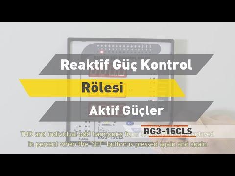RG3 - 15 CLS Reaktif Güç Kontrol Rölesi - Aktif Güçler