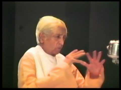 How does nature come into existence? | J. Krishnamurti