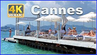 【4K】WALK CANNES France 4K Video FRENCH RIVIERA Travel Vlog