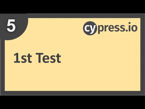 Cypress Beginner Tutorial 5   1st Test