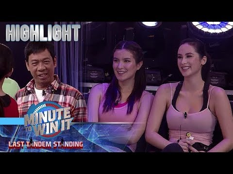 Long Mejia meets the Kiwi Sisters | Minute To Win It