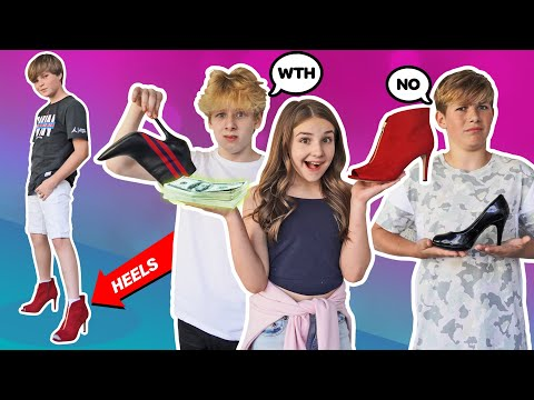LAST TO LEAVE HIGH HEELS WINS iPHONE 11 w/ my CRUSH & Ex BOYFRIEND **Challenge** 👠| Piper Rockelle