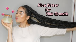 How To Make Rice Water Super Hair Growth Treatment! 2 Ways | Lana Summer