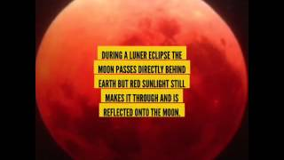 Why is the supermoon red?