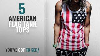 Top 10 American Flag Tank Tops [Winter 2018 ]: ZAWAPEMIA Mens American Flag Print Wave Tank Top L