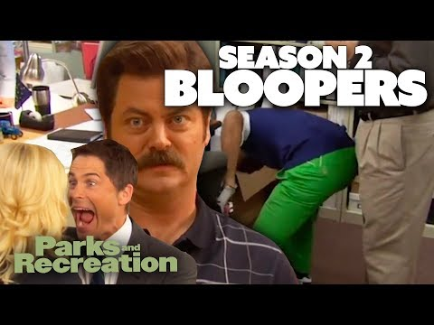 Season 2 BLOOPERS | Parks and Recreation | Comedy Bites
