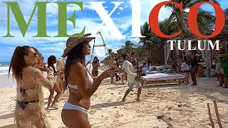 Tulum Beach On Saturday | Beach Clubs & Sun | 🇲🇽MEXICO🇲🇽