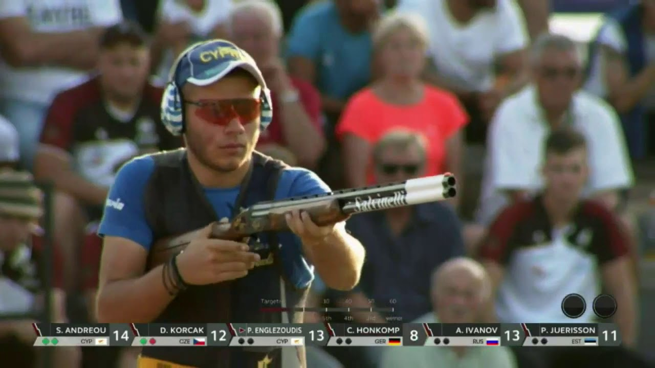 Englezoudis at 2019 European Championship Shotgun - Skeet Men Junior Final