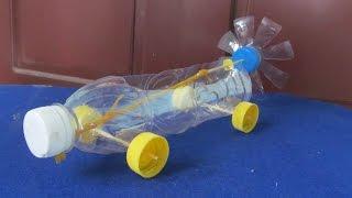 Как сделать резинкой двигателем автомобиля | Повторное пластиковую бутылку
