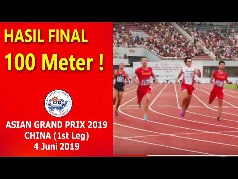 Final 100m ► Asian Grand Prix 2019 China !! Hasil Terbaru ZOHRI Cs