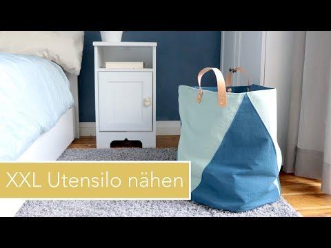 Großes Utensilo nähen für Wäsche und Spielzeug | Zwillingsnadel