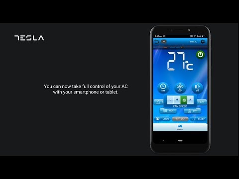 Σύνδεση Tesla κλιματιστικού με το WiFi και το κινητό σας