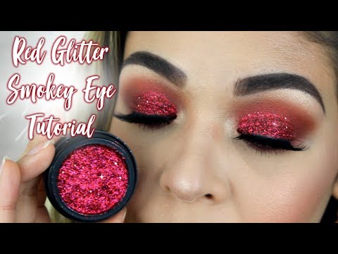 Red Glitter Smokey Eye Tutorial Valentines Day Inspiration