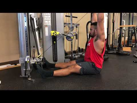 Seated Cable Front Raise