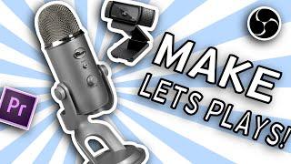 HowToMakeLetsPlayGamingVideos!PC,BlueYeti,Logitechc920,PremierePro,OBS