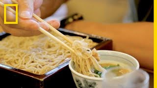 The Art of Soba Noodle Making in Japan | National Geographic thumbnail