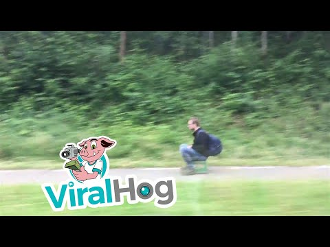 Riding on a Motorized Beer Crate