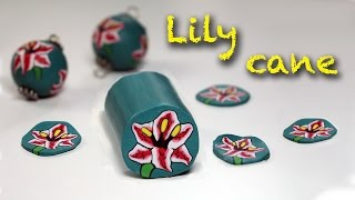 Polymer clay tutoria l- Lily flower cane- Murrina Giglio - Iris