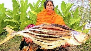 Giant APOLLO Fish!! Dry Fish Recipe! Arowana, Tomato & Potato Dried Fish/Shutki Bhuna Curry For Kids