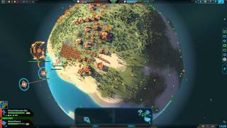 Planetary Annihilation 10 Player FFA : Alone with cannons