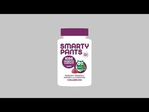 SmartyPants, 兒童益生元和益生菌,機體抵抗配方,20 億 CFU,60 粒軟糖