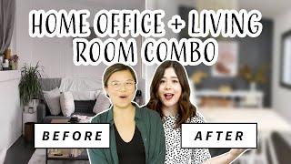 Home Office Makeover | Massive Rental Live-Work Transformation