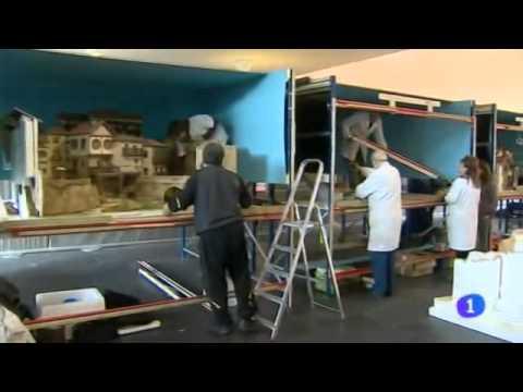 Montaje e instalación de la expo de Baluarte, Telenavarra 02/12/2014