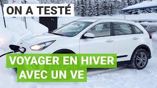 900km en HIVER avec une voiture électrique (Kia e-Niro)