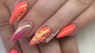 Acrylic Nails | Summer Sizzler | Almond Nails