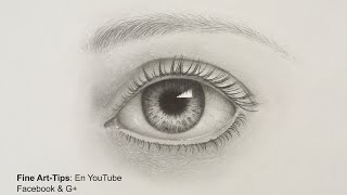 How To Draw A Realistic Eye - With Pencil- Drawing Tutorial
