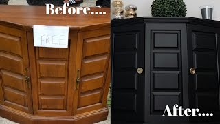 Furniture Makeover | Before And After Painted Furniture | Yard Sale Furniture | Budget Decorating