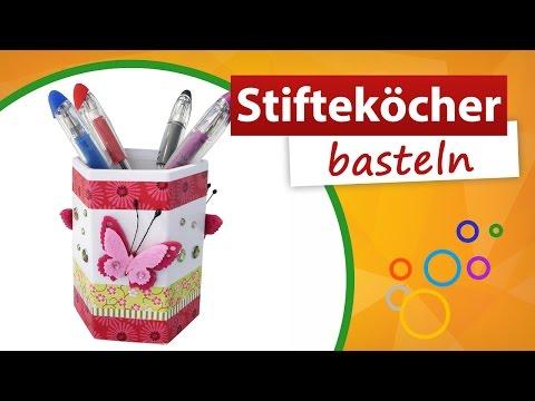 ♥ Kindergeburtstag basteln ♥ Stiftebecher/Stifteköcher selber machen - trendmarkt24