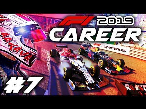 F1 2019 CAREER MODE Part 7: INSANE MONACO GRAND PRIX RACE & RESULTS!