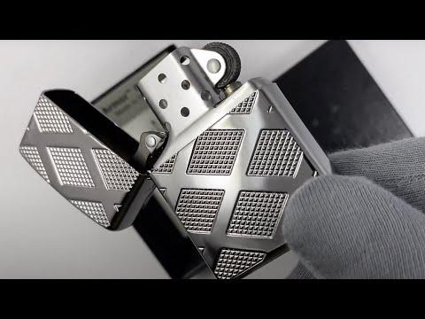 28637 Зажигалка Zippo Armor Carved Diamond, Polish Сhrome