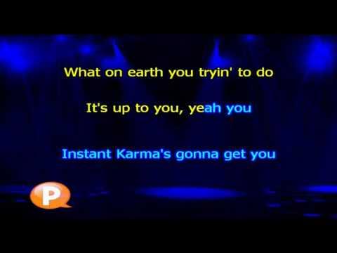John Lennon   Instant Karma - Karaokê