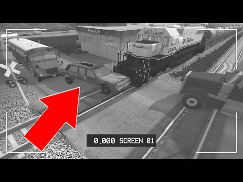 BeamNG Drive - Train Accidents #3 CCTV Edition