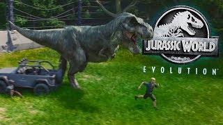 Jurassic World Evolution - Dinosaur Fights, Escapes & Park Building - JWE 1 Hour Summarized Gameplay