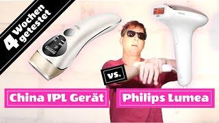IPL Haarentfernung im Test: Philips Lumea vs China Gerät (SKEY) mit Vorher / Nachher Vergleich