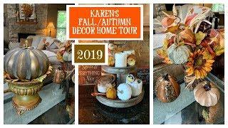 Karen's 🍂FALL/AUTUMN🍁  Decor Home Tour   2019   Fall Series   The2Orchids