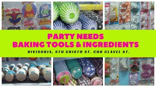 Baking Tools & Ingredients, Party Needs In Divisoria | Bake And Taste
