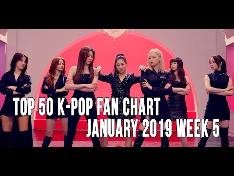 Top 50 K-Pop Songs Chart - January 2019 Week 5 Fan Chart