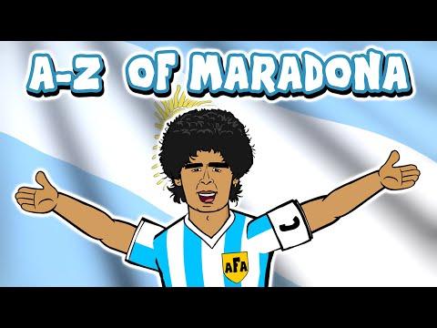 DIEGO MARADONA A-Z  (Goals Hand of God Goal of the Century Highlights 1986 Mexico)