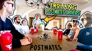 TROLLING POSTMATES DELIVERY GUYS!! (Hilarious)