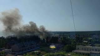 Новосибирск. Пожар в посёлке Кирова.