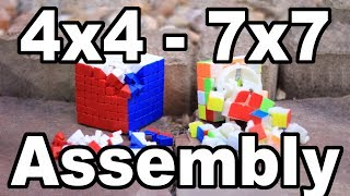 How to Take Apart & Reassemble Big Cubes (4x4, 5x5, 6x6, & 7x7)