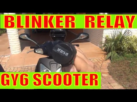 How to change turn signal blinker relay on your GY6 scooter