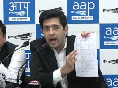 AAP Leaders Brief Media on Legalised Loot By Modi Govt with Startling Figures