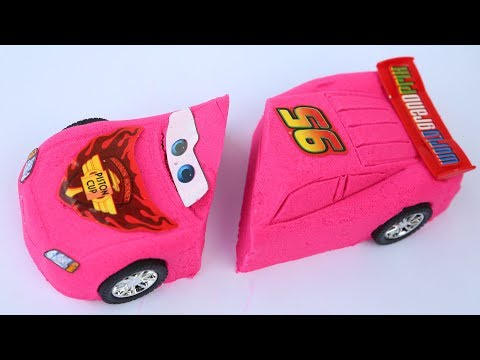 DIY Colors Kinetic Sand New Cars Movies Lighning Mcqueen Disney Pixar Kinetic Sand