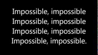 James Arthur ~ Impossible (Lyrics)