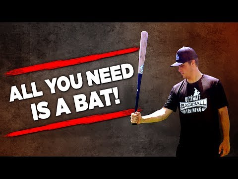 Baseball Workout For Hitters (NOTHING BUT A BAT?!)